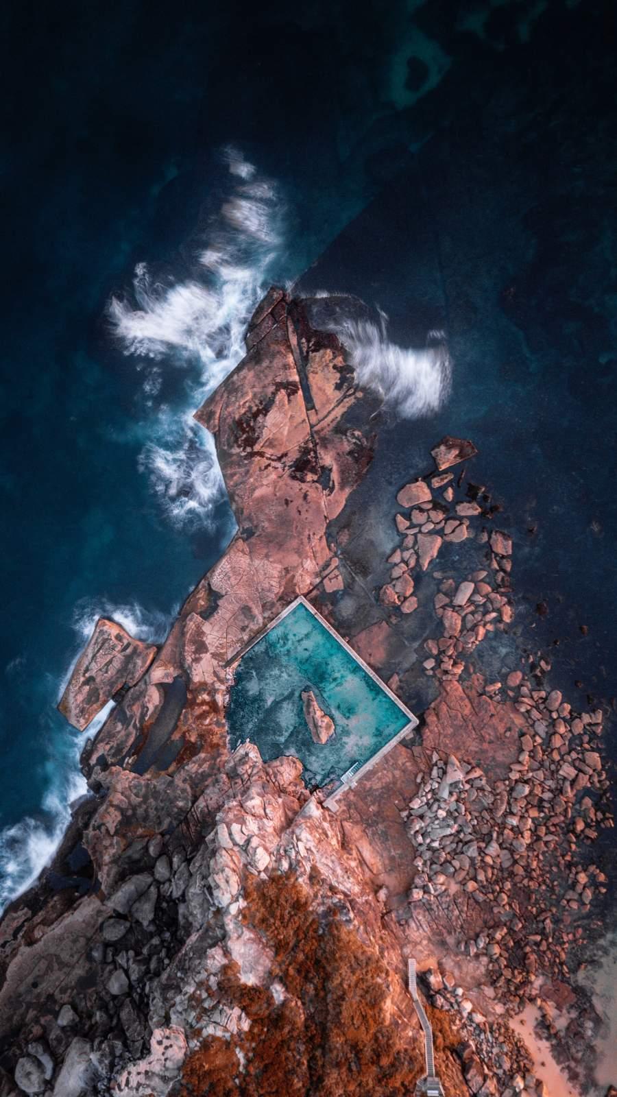 Aerial View Seaside iPhone Wallpaper