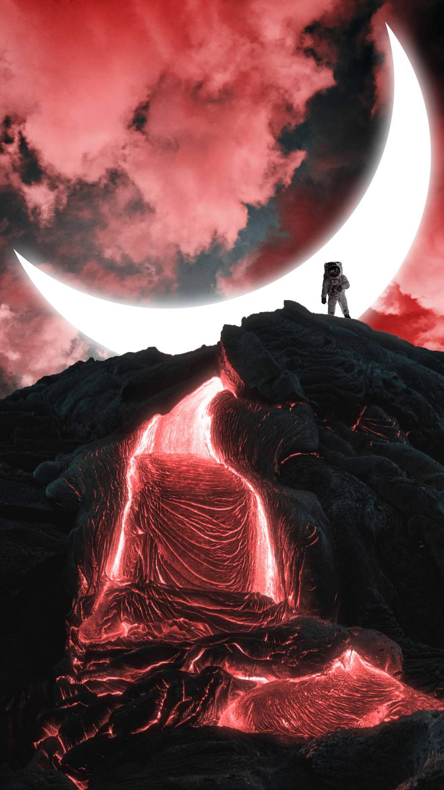 Astro Lava iPhone Wallpaper