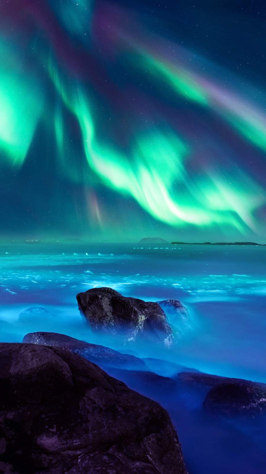 Aurora Night iPhone Wallpaper