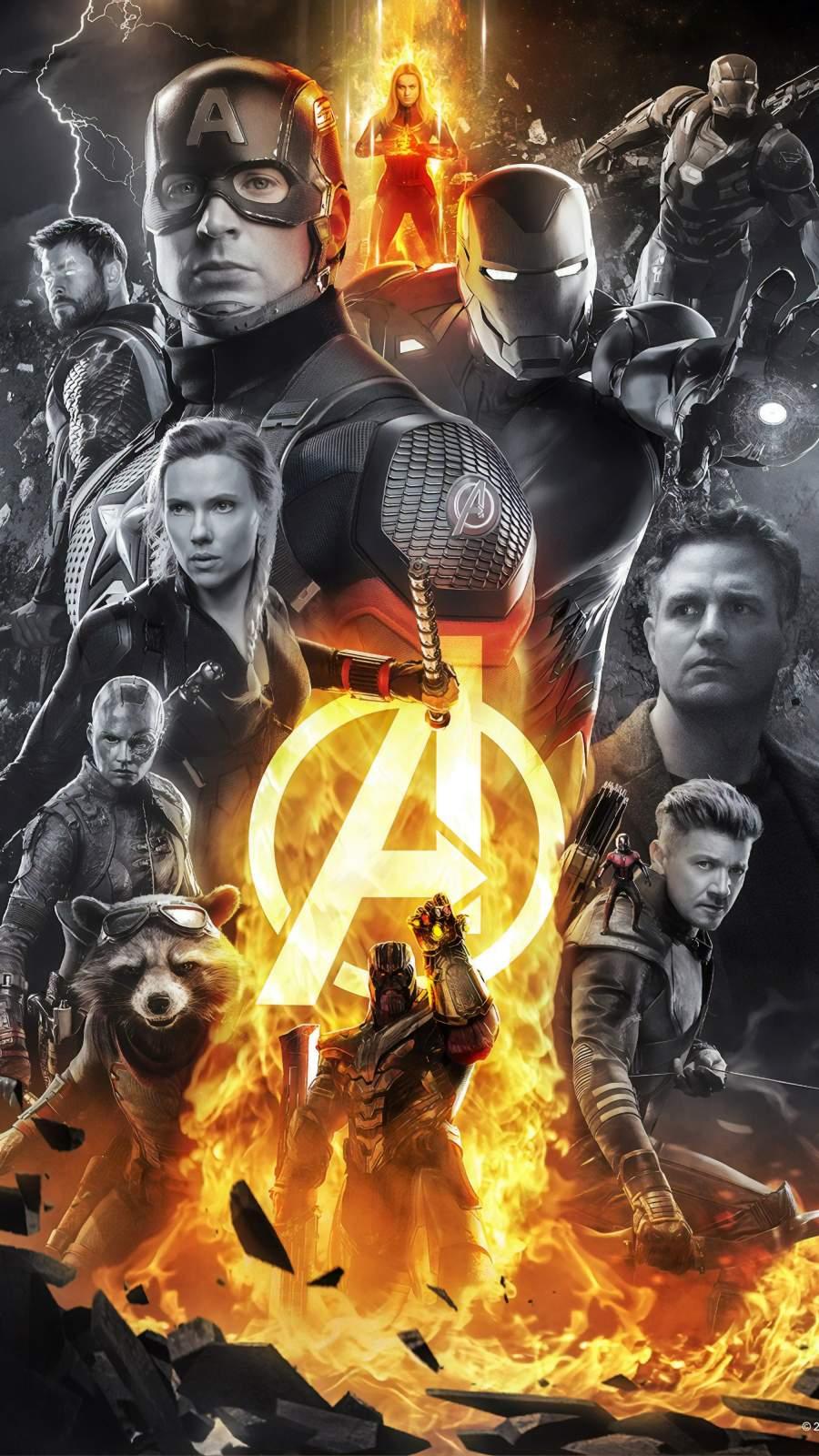 Avengers All Superheroes iPhone Wallpaper