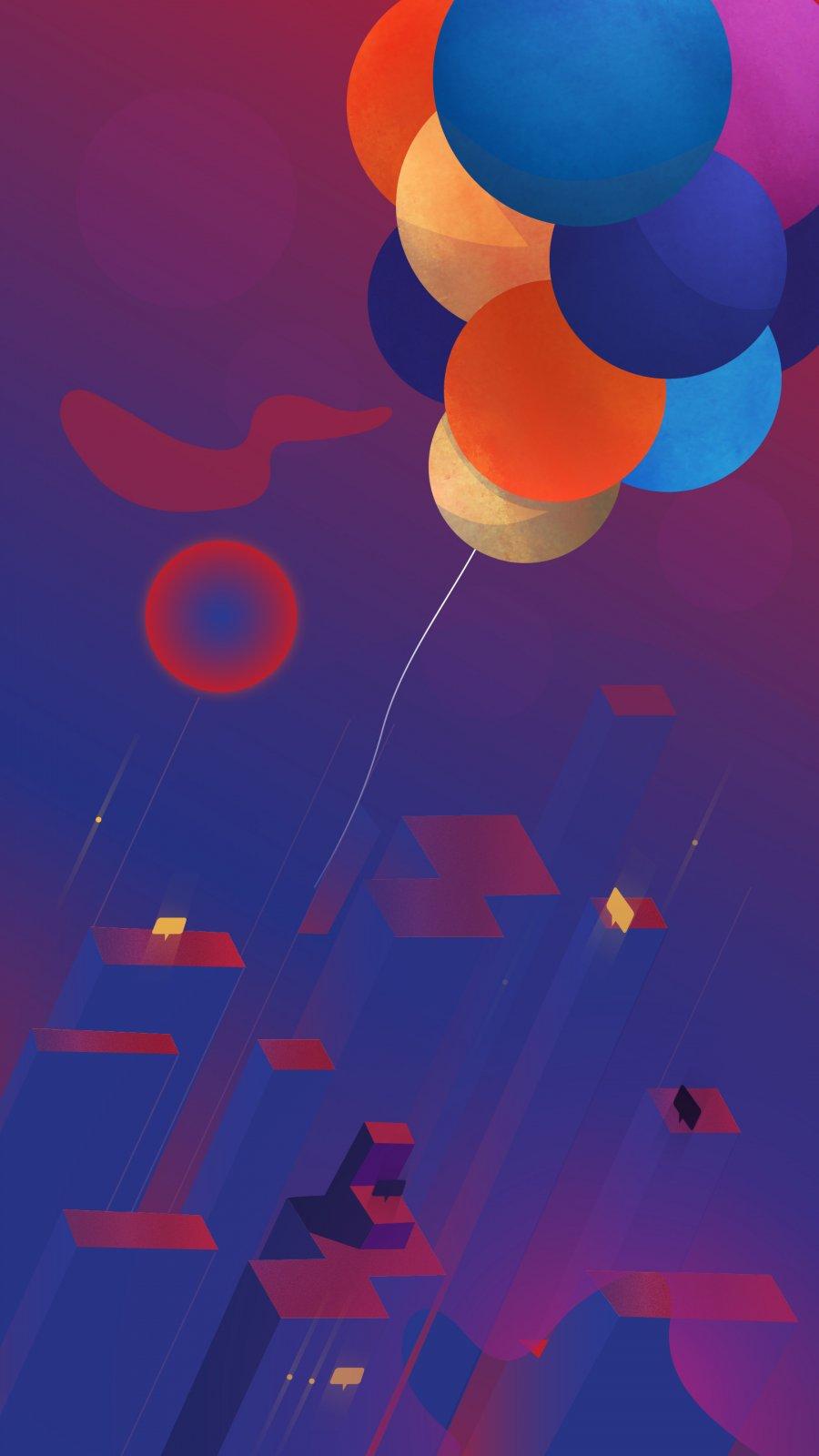 Balloon Art iPhone Wallpaper