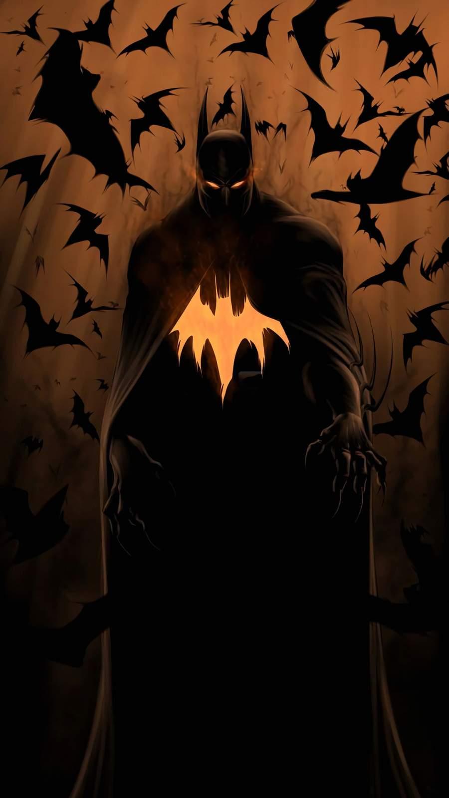 Batman Bats iPhone Wallpaper