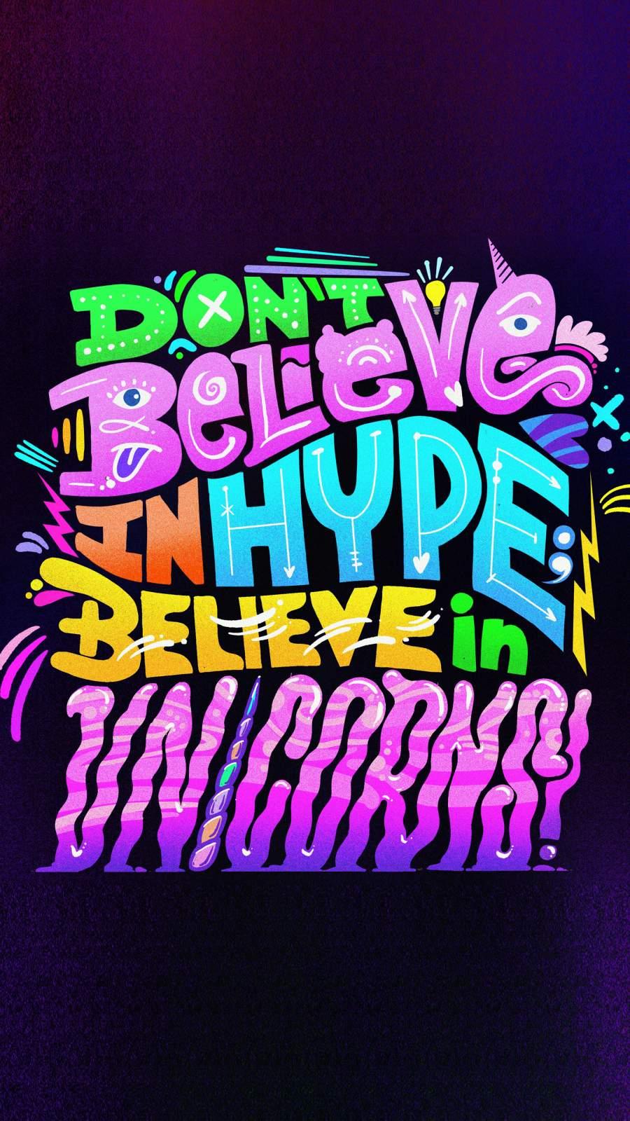 Believe in Unicorns iPhone Wallpaper