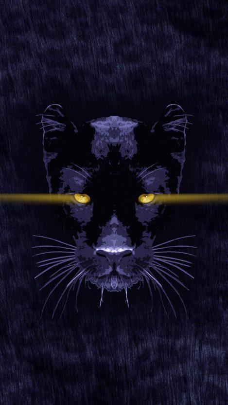 Black Panther Animal iPhone Wallpaper