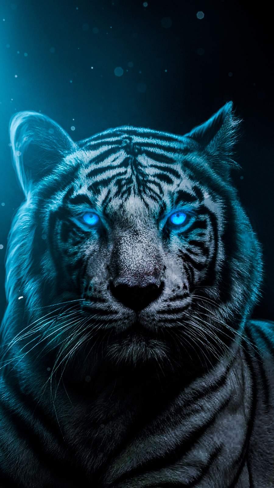 Blue Eyes Lion iPhone Wallpaper