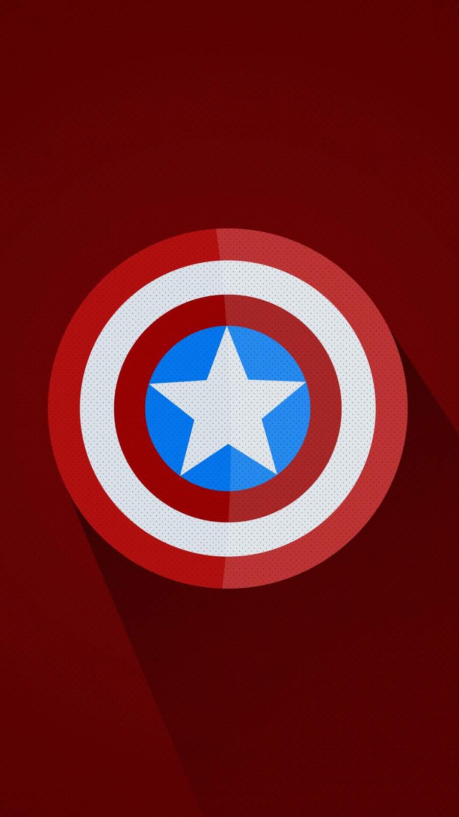 Captain America Minimal Logo iPhone Wallpaper