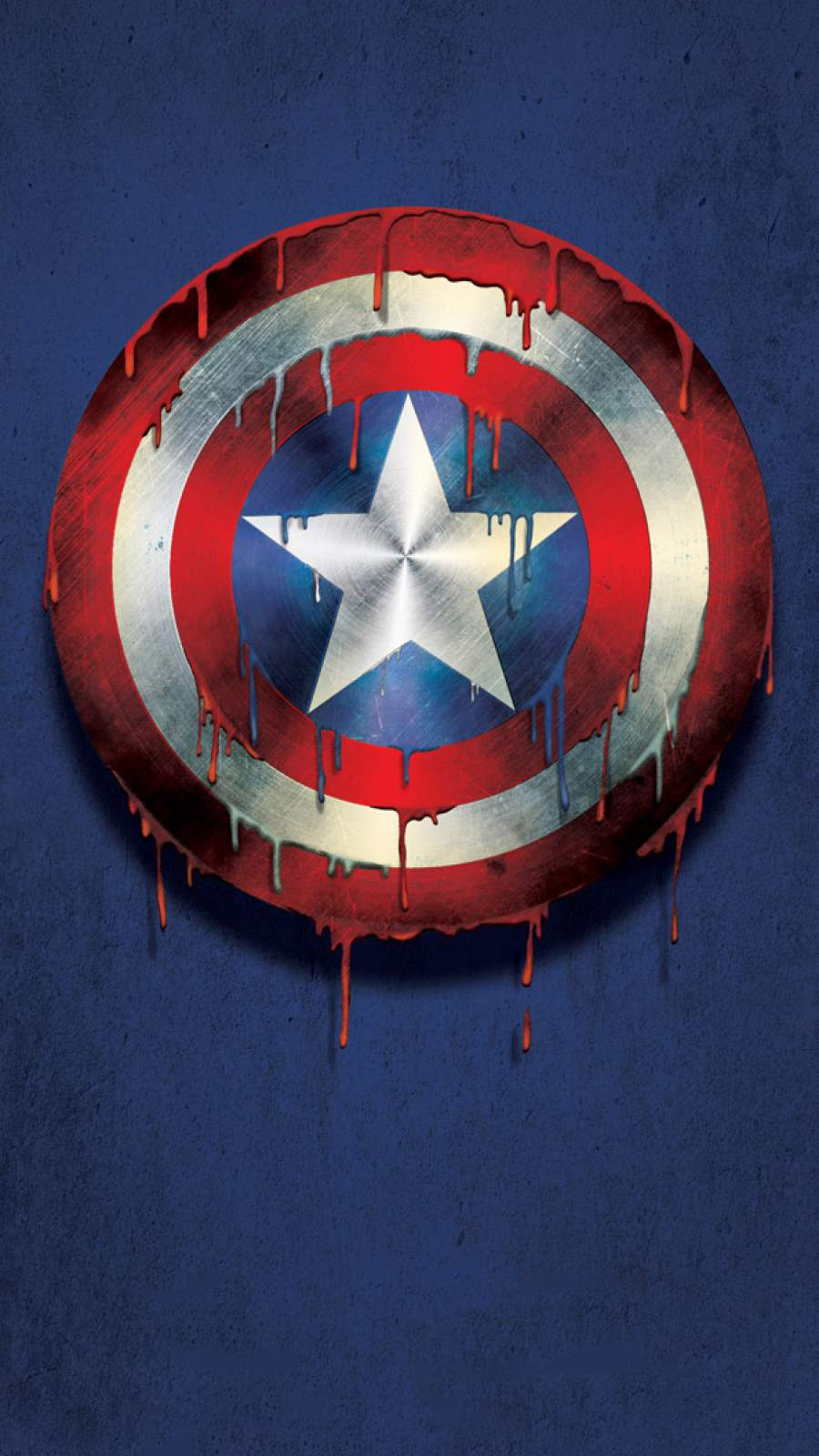 Captain America Shield Melting iPhone Wallpaper