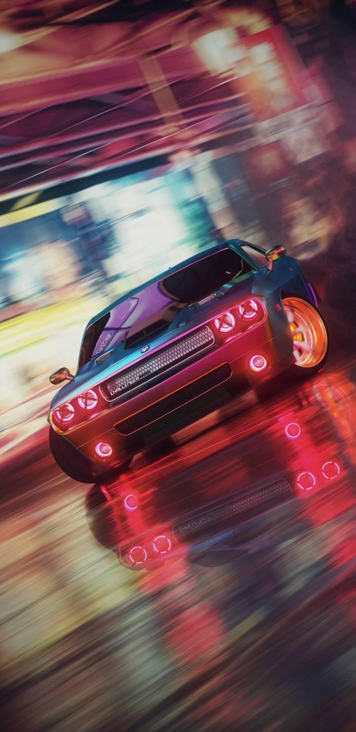 Dodge Challenger Drift iPhone Wallpaper