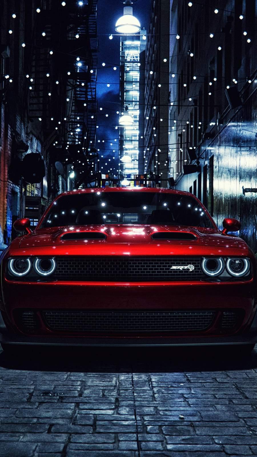 Dodge Challenger SRT Demon iPhone Wallpaper