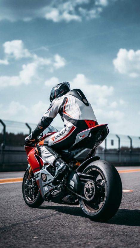 Ducati Rider iPhone Wallpaper
