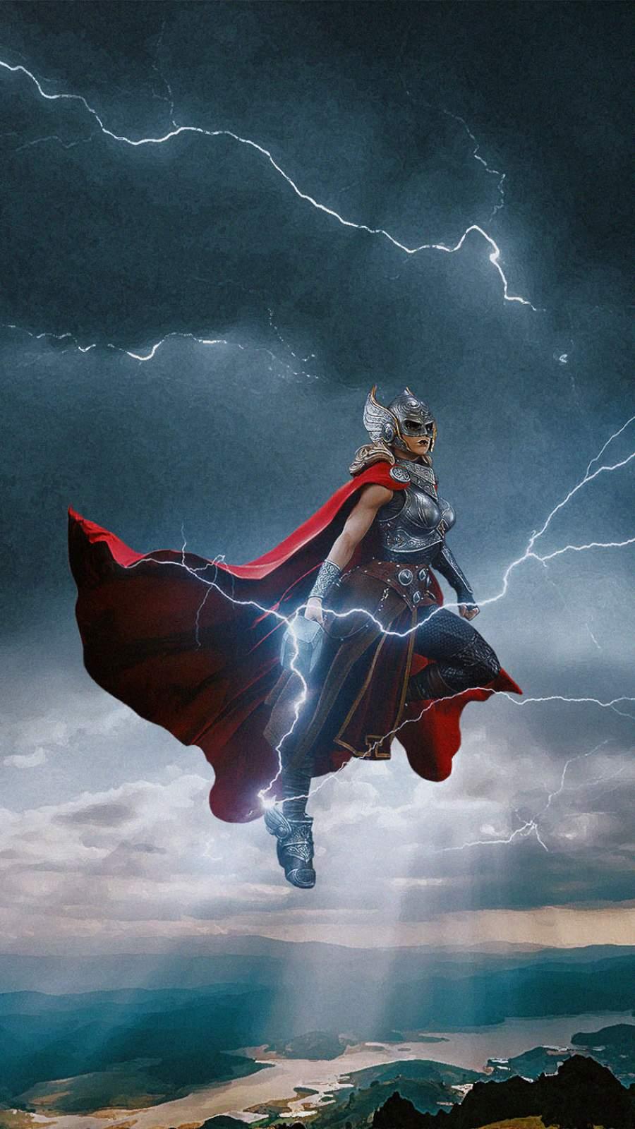 Female Thor iPhone Wallpaper