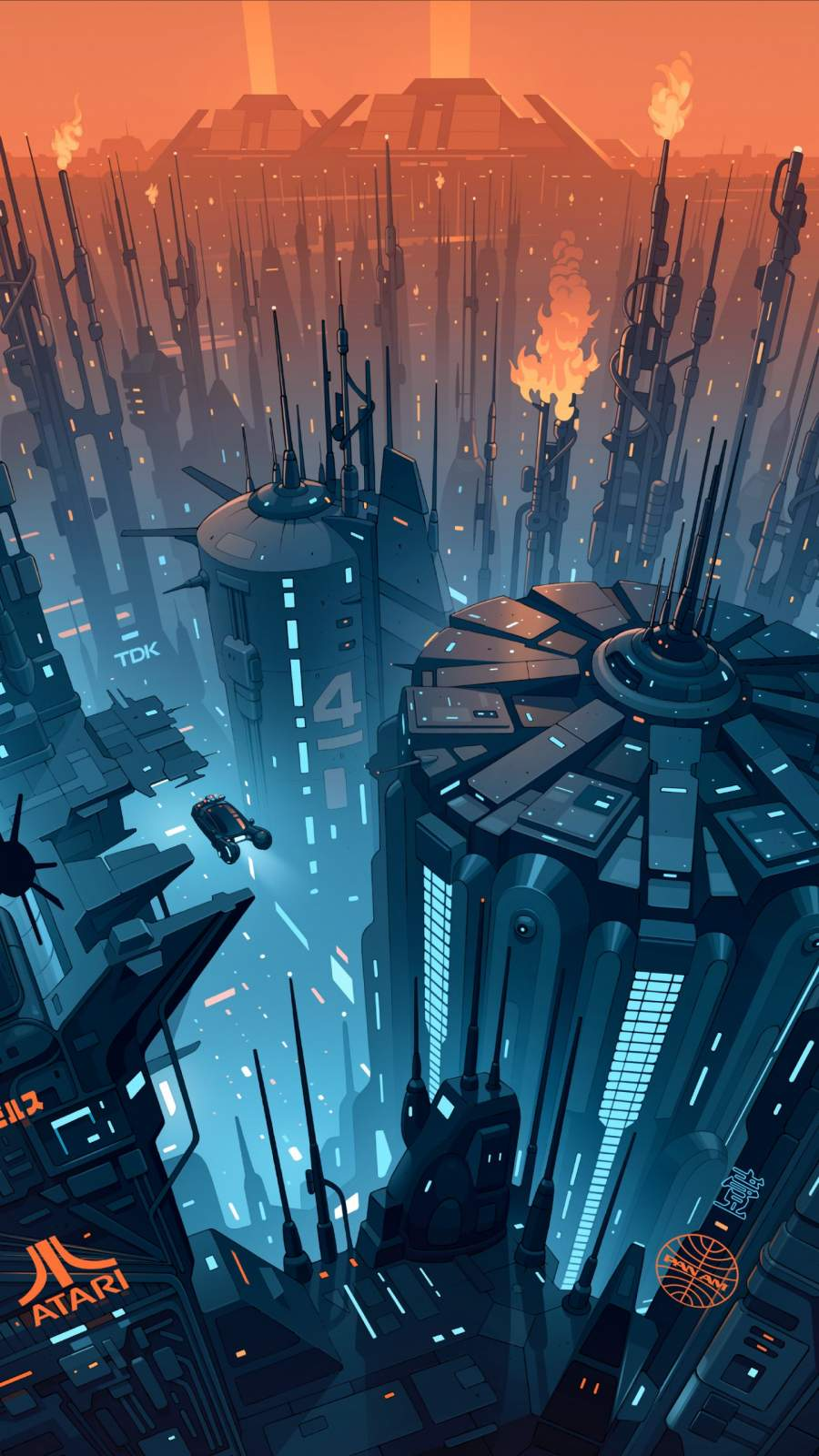 Future City Concept Art iPhone Wallpaper