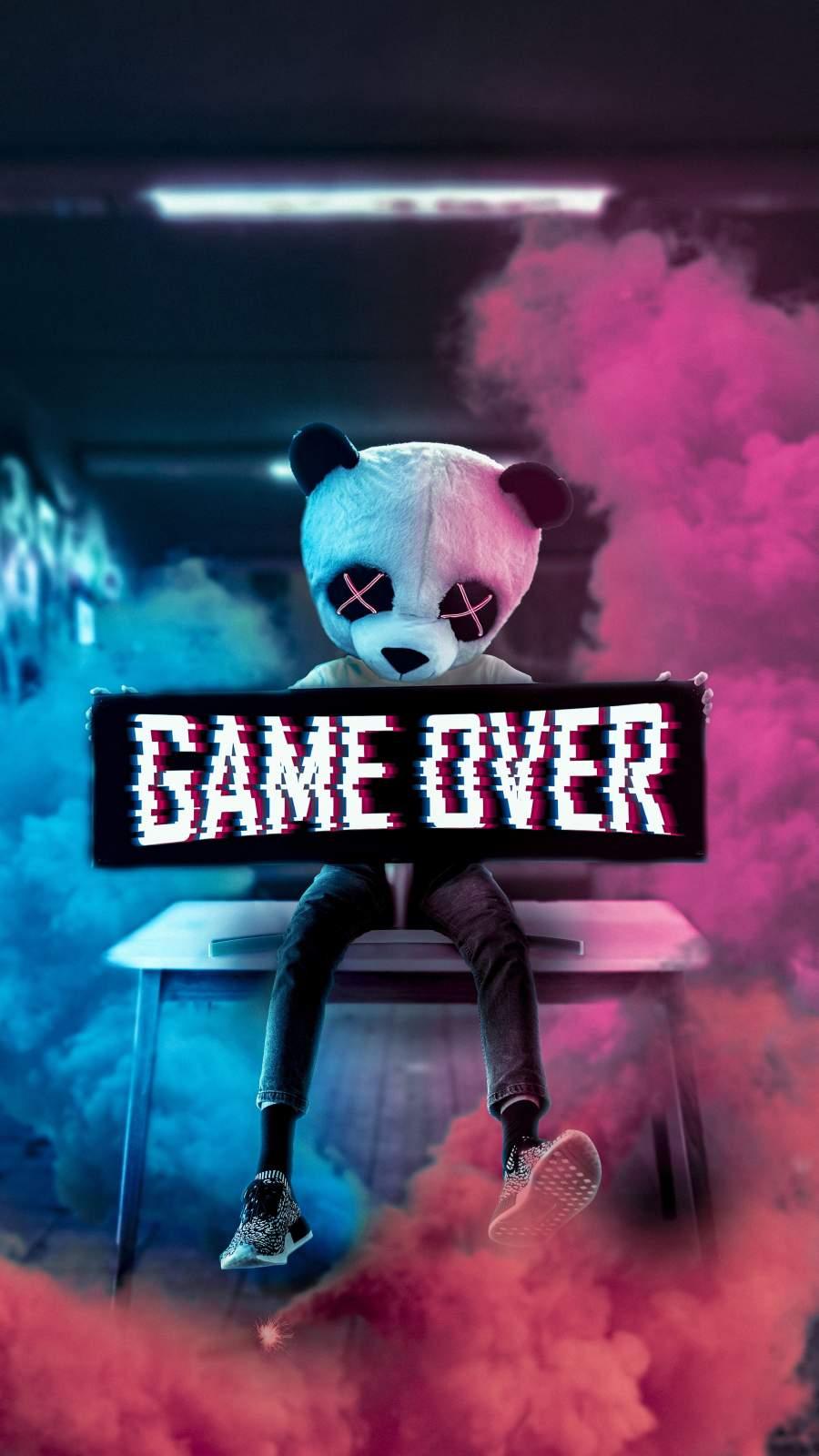 Game Over Panda iPhone Wallpaper