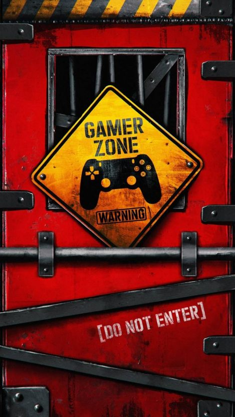 Gamer Zone Do Not Enter iPhone Wallpaper