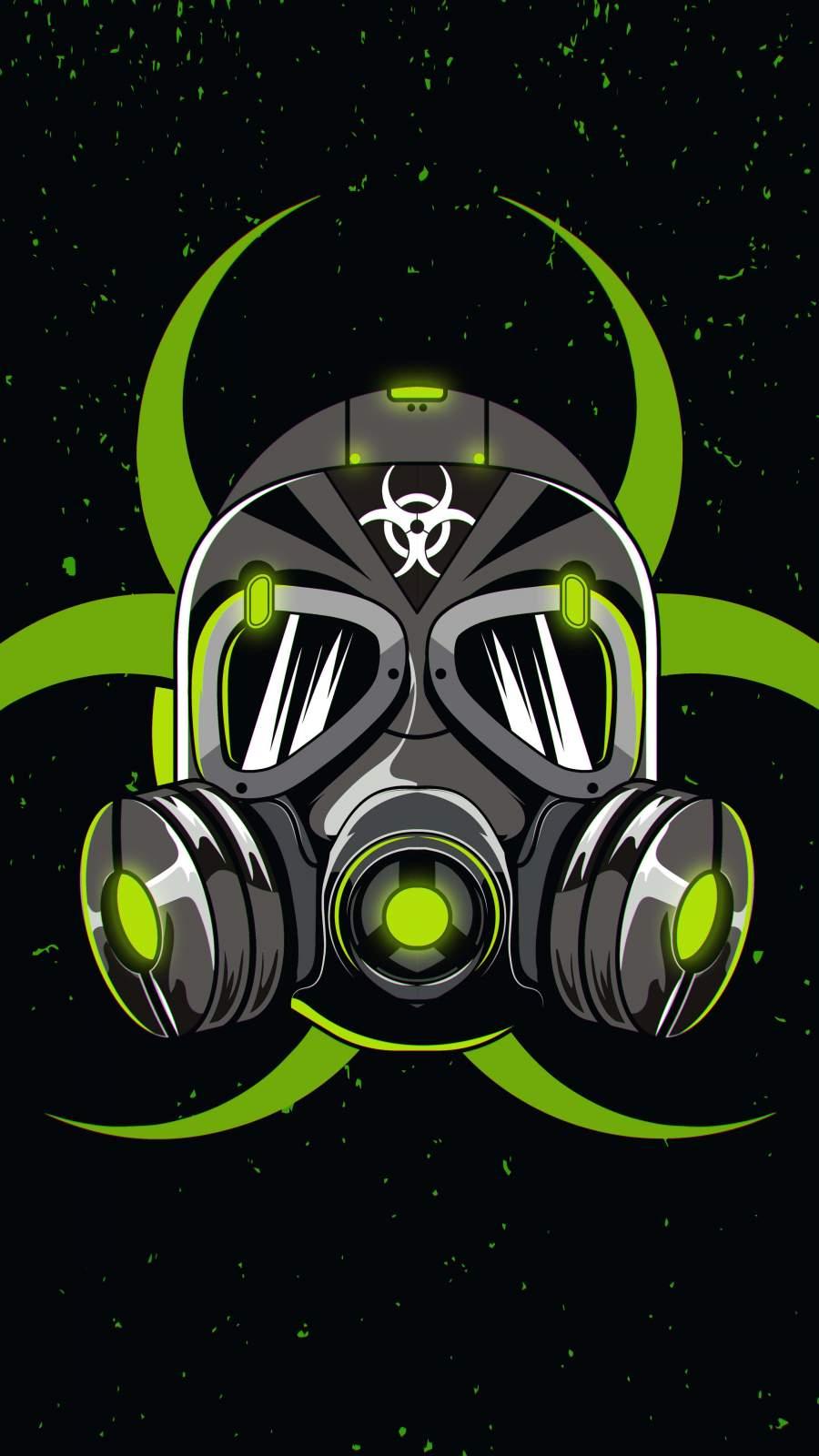 Green Mask iPhone Wallpaper