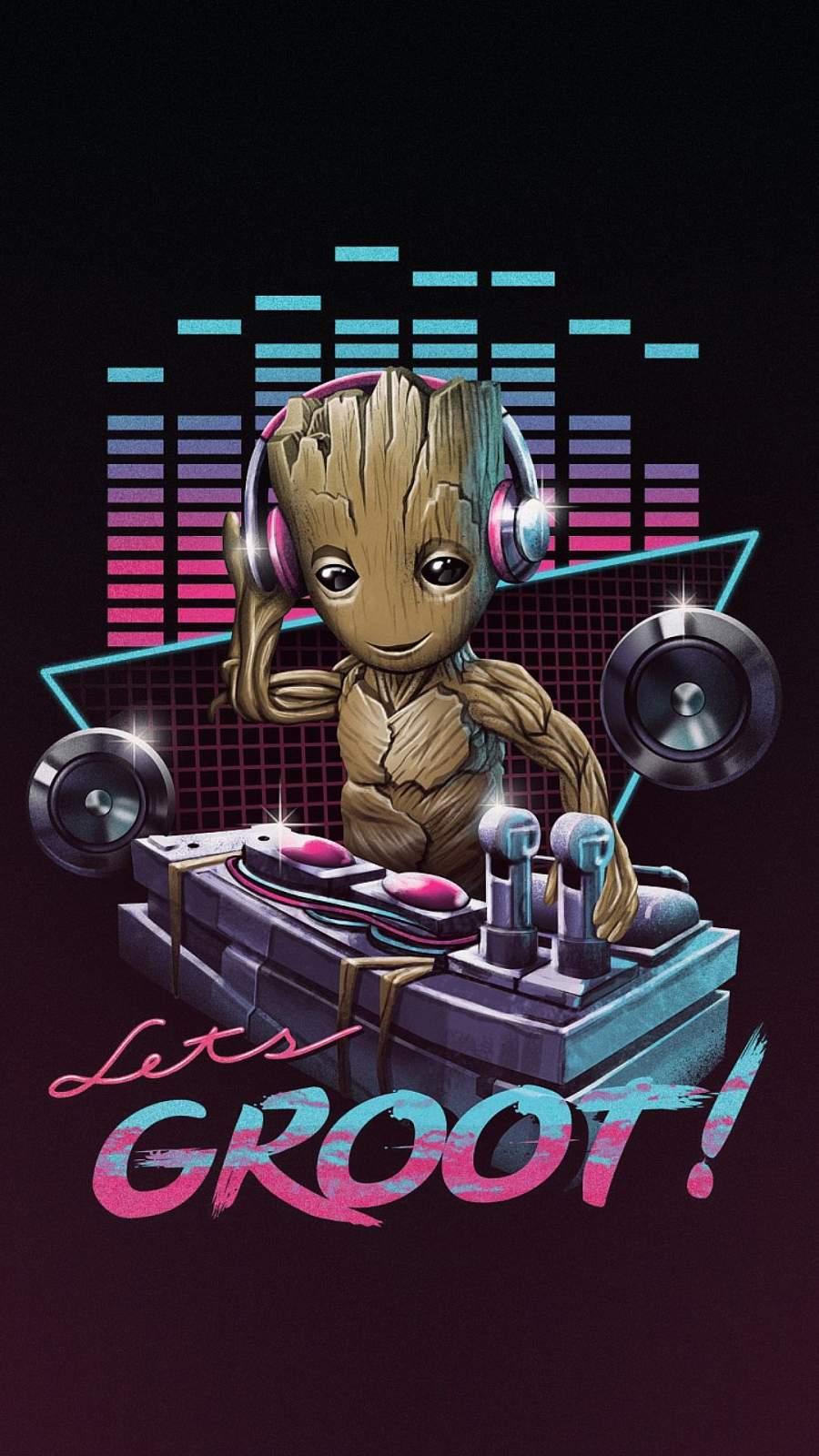 Groot Music iPhone Wallpaper
