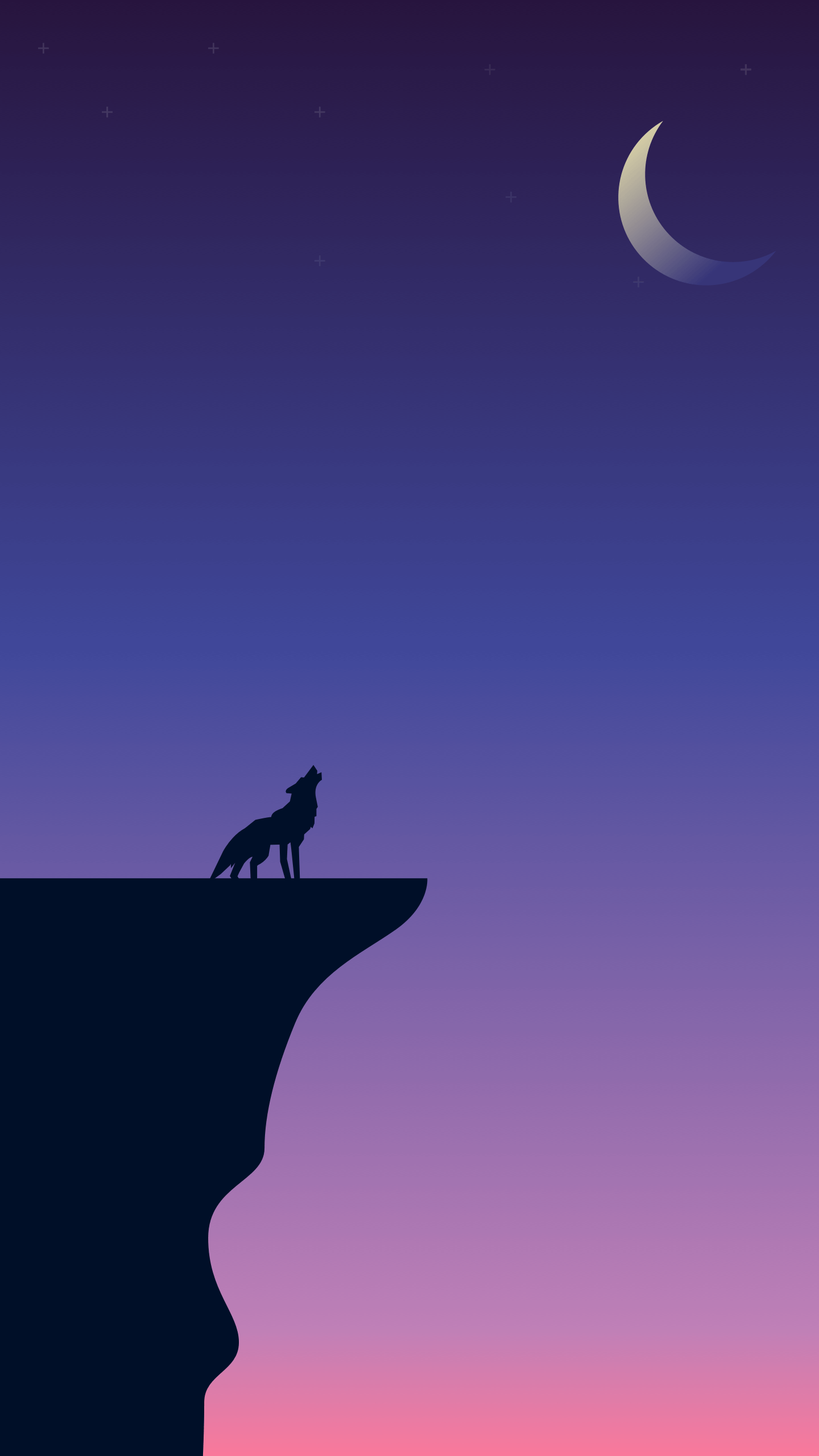 Howling Wolf iPhone Wallpaper