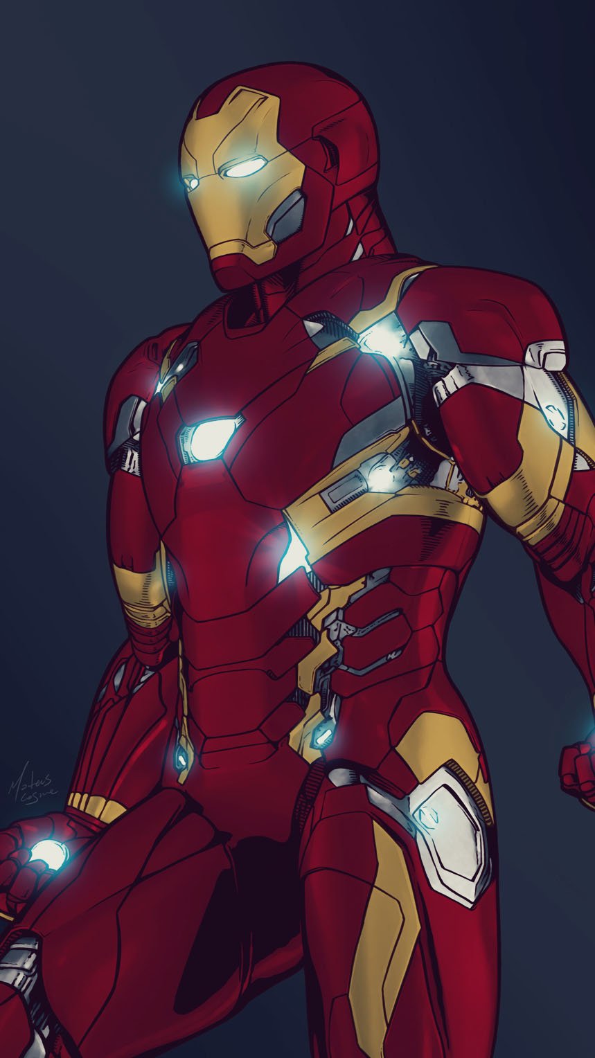 Iron Man Bleeding Edge Armor iPhone Wallpaper