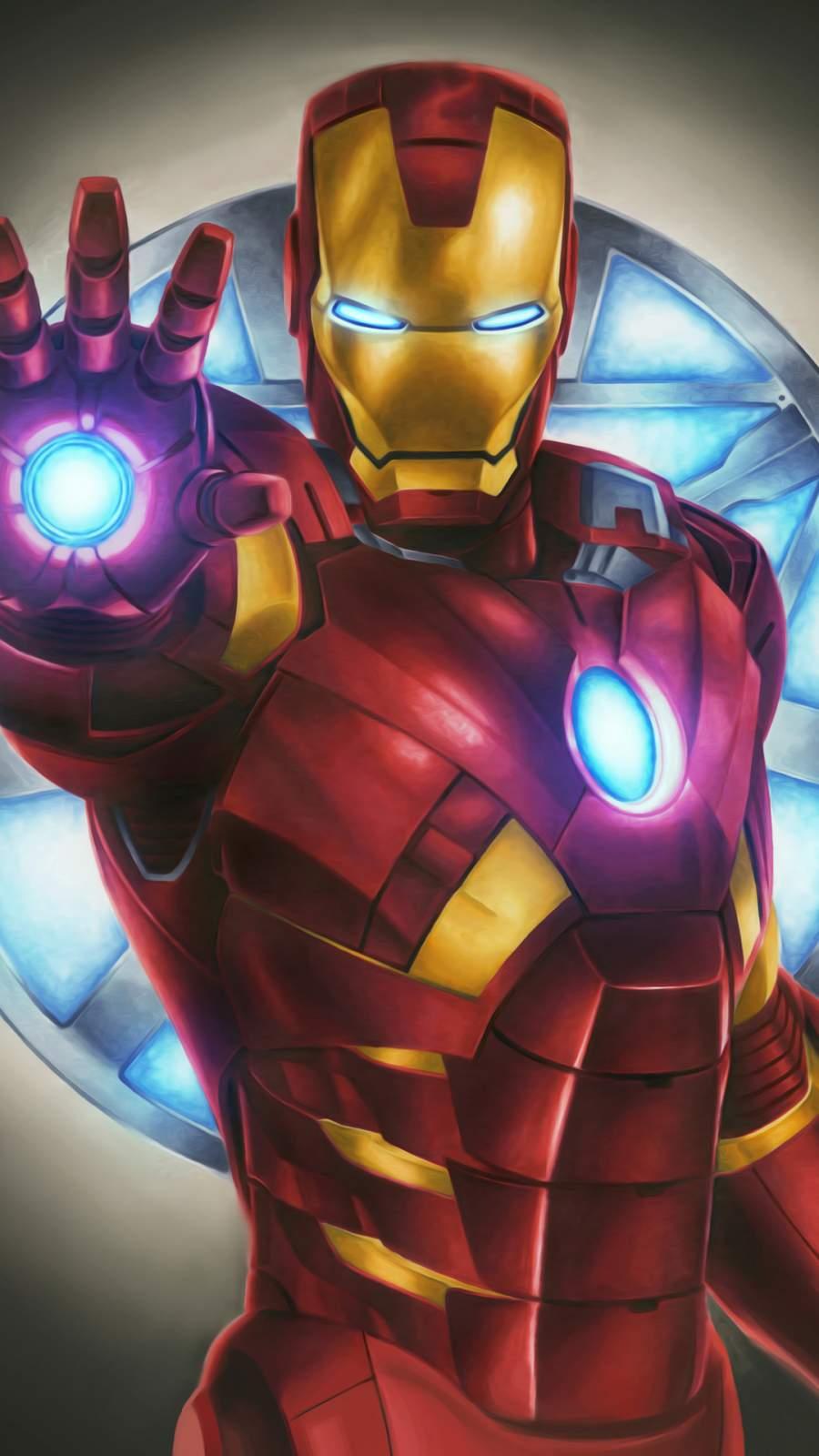 Iron Man Digital Art iPhone Wallpaper