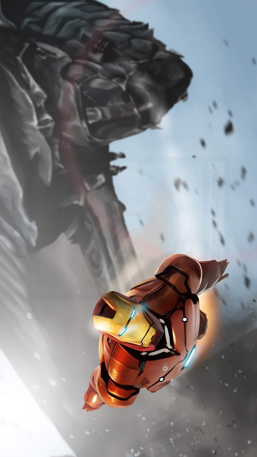 Iron Man vs Chittori Army iPhone Wallpaper