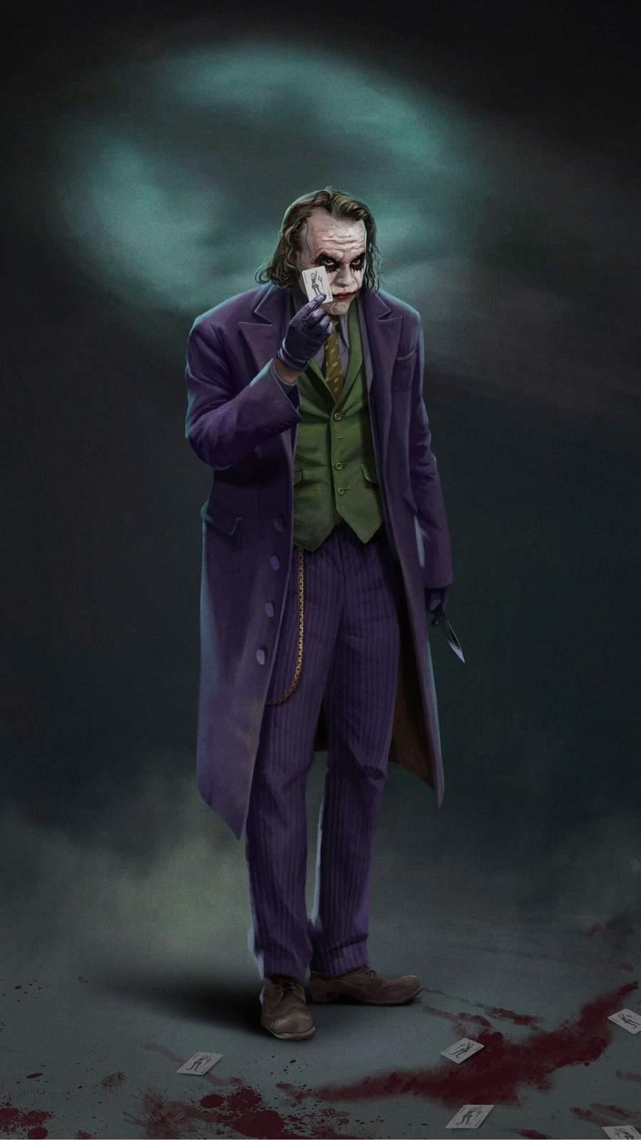 Joker and Card iPhone Wallpaper