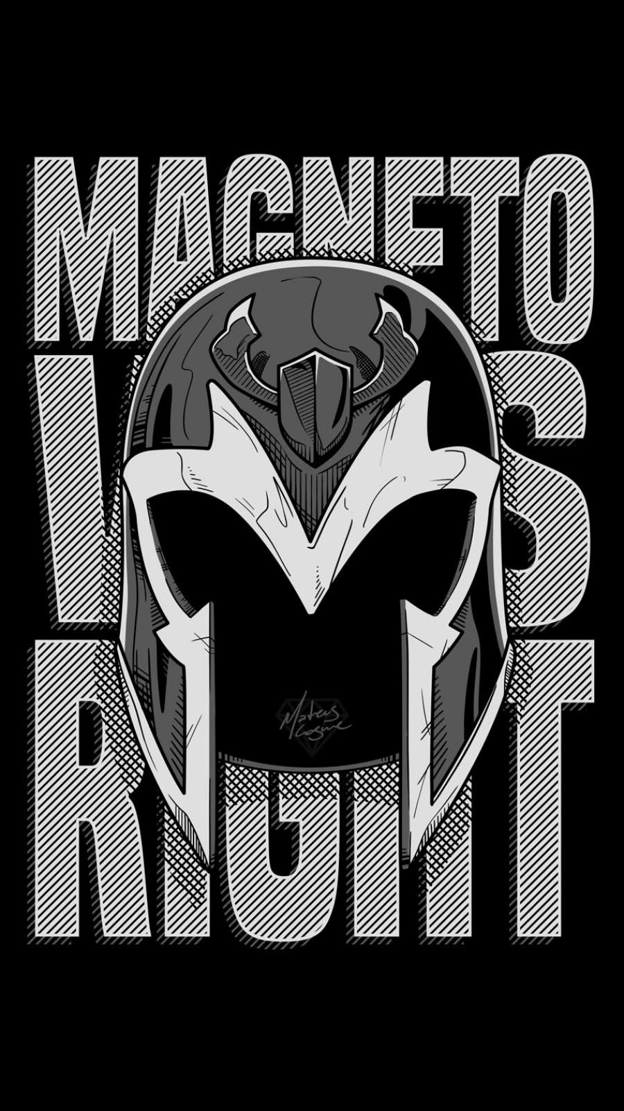 Magneto Was Right iPhone Wallpaper