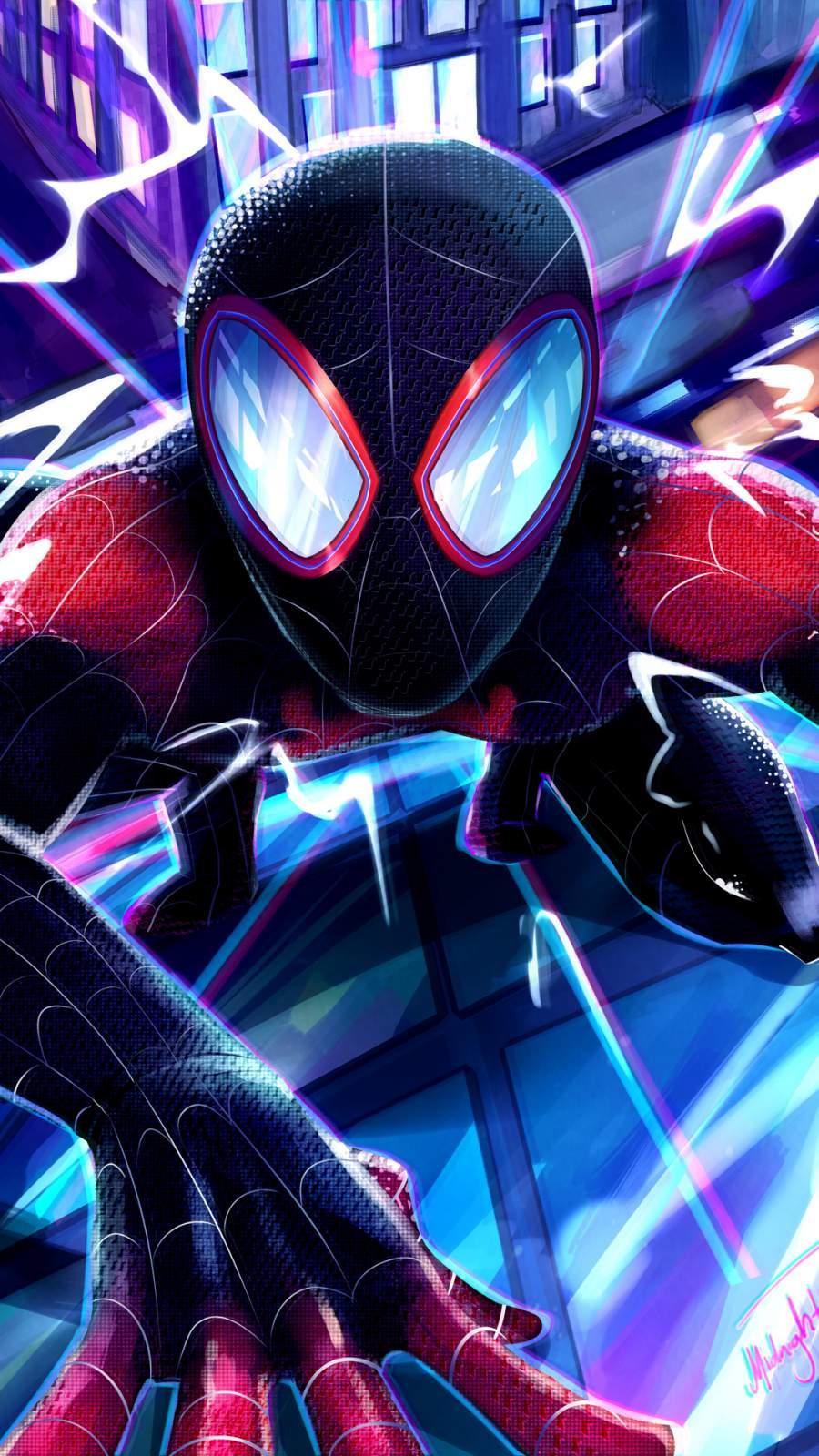 Miles Morales Spiderman iPhone Wallpaper