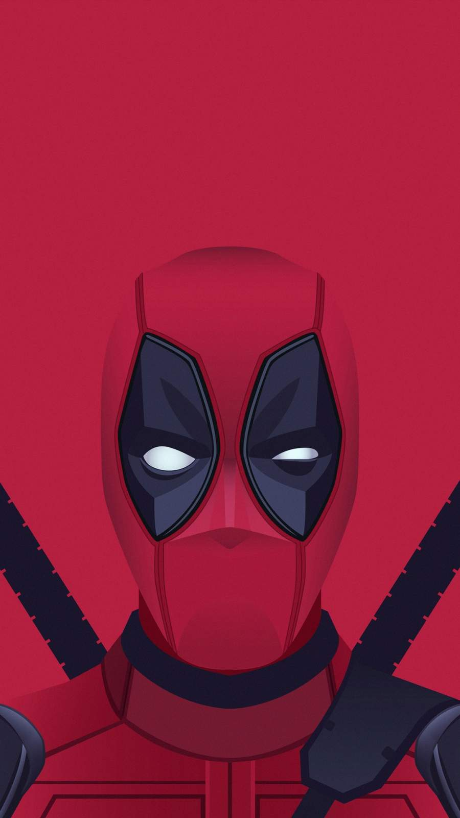 Minimal Deadpool iPhone Wallpaper