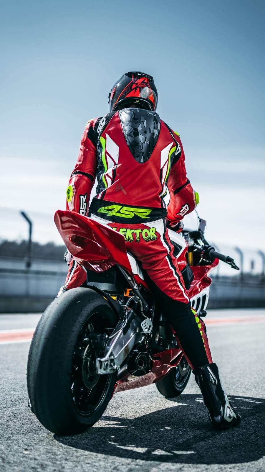 MotoGP Biker iPhone Wallpaper