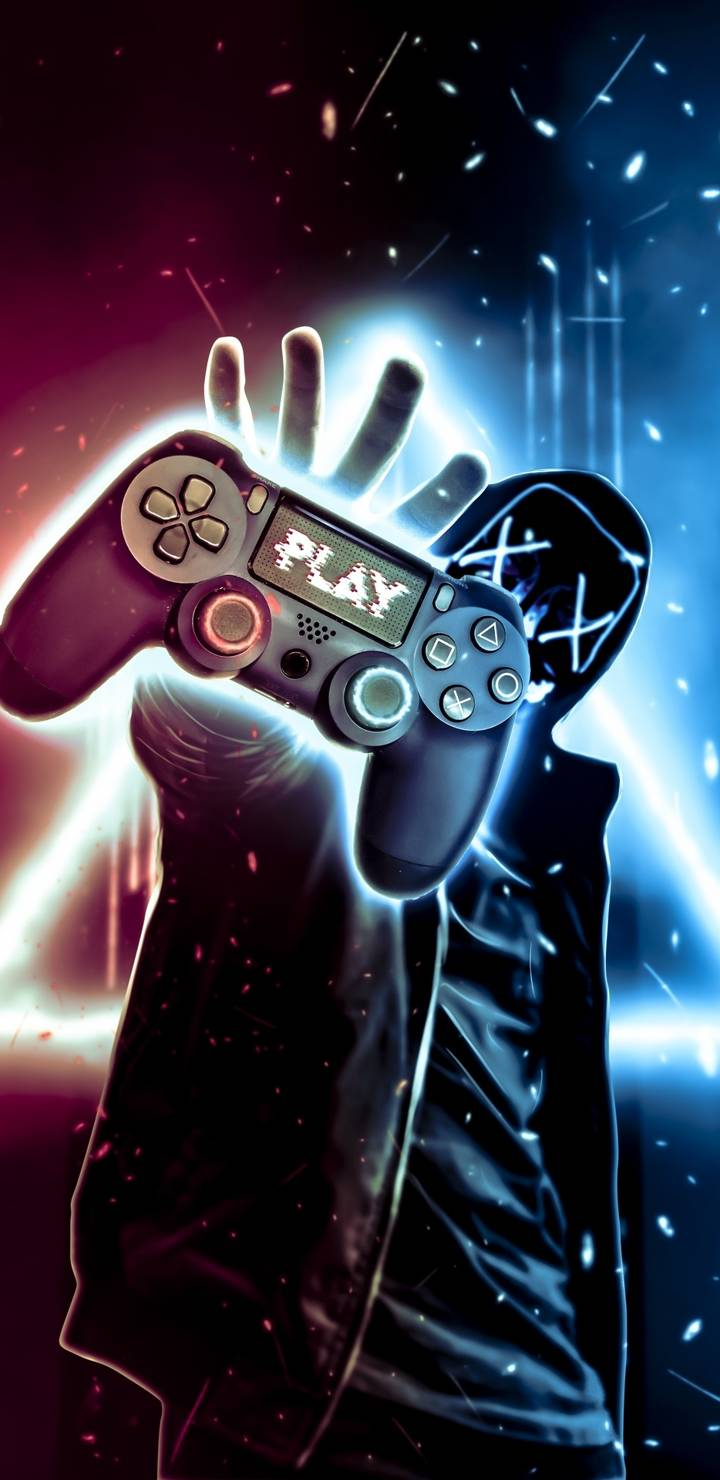 Neon Gamer iPhone Wallpaper