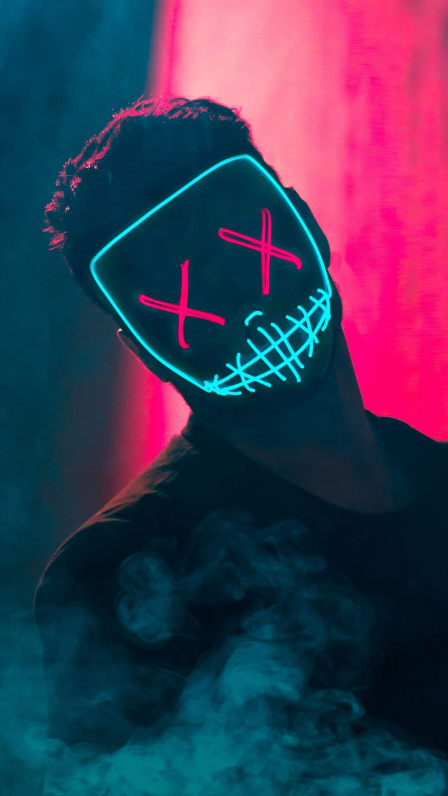 Neon Madness iPhone Wallpaper