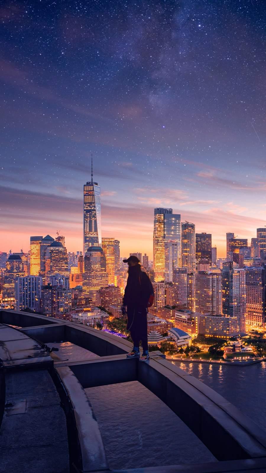 New York City Lights iPhone Wallpaper