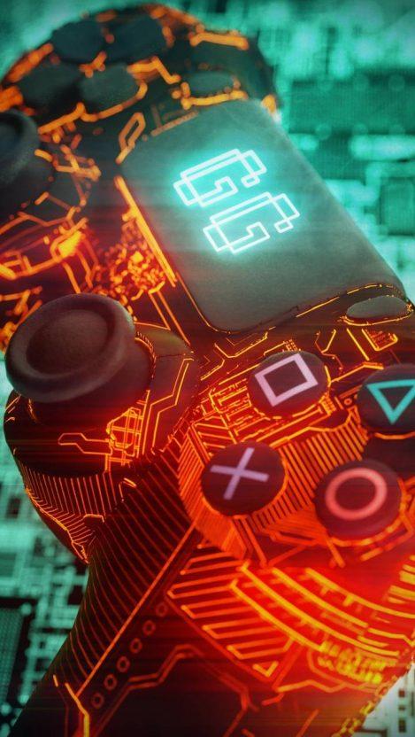 PS4 Controller iPhone Wallpaper