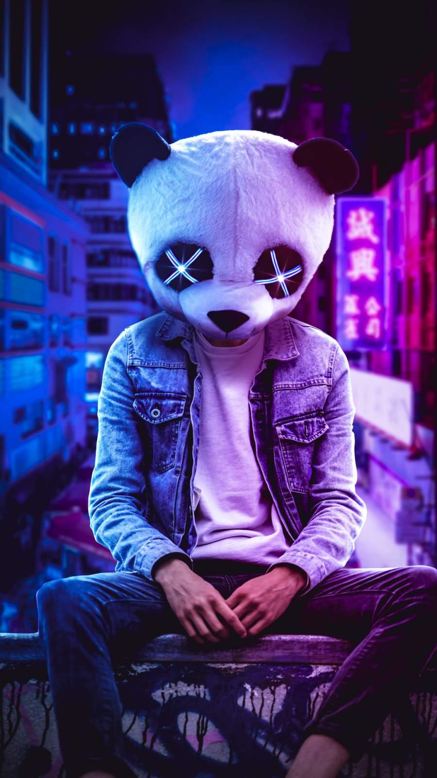 Panda Guy iPhone Wallpaper