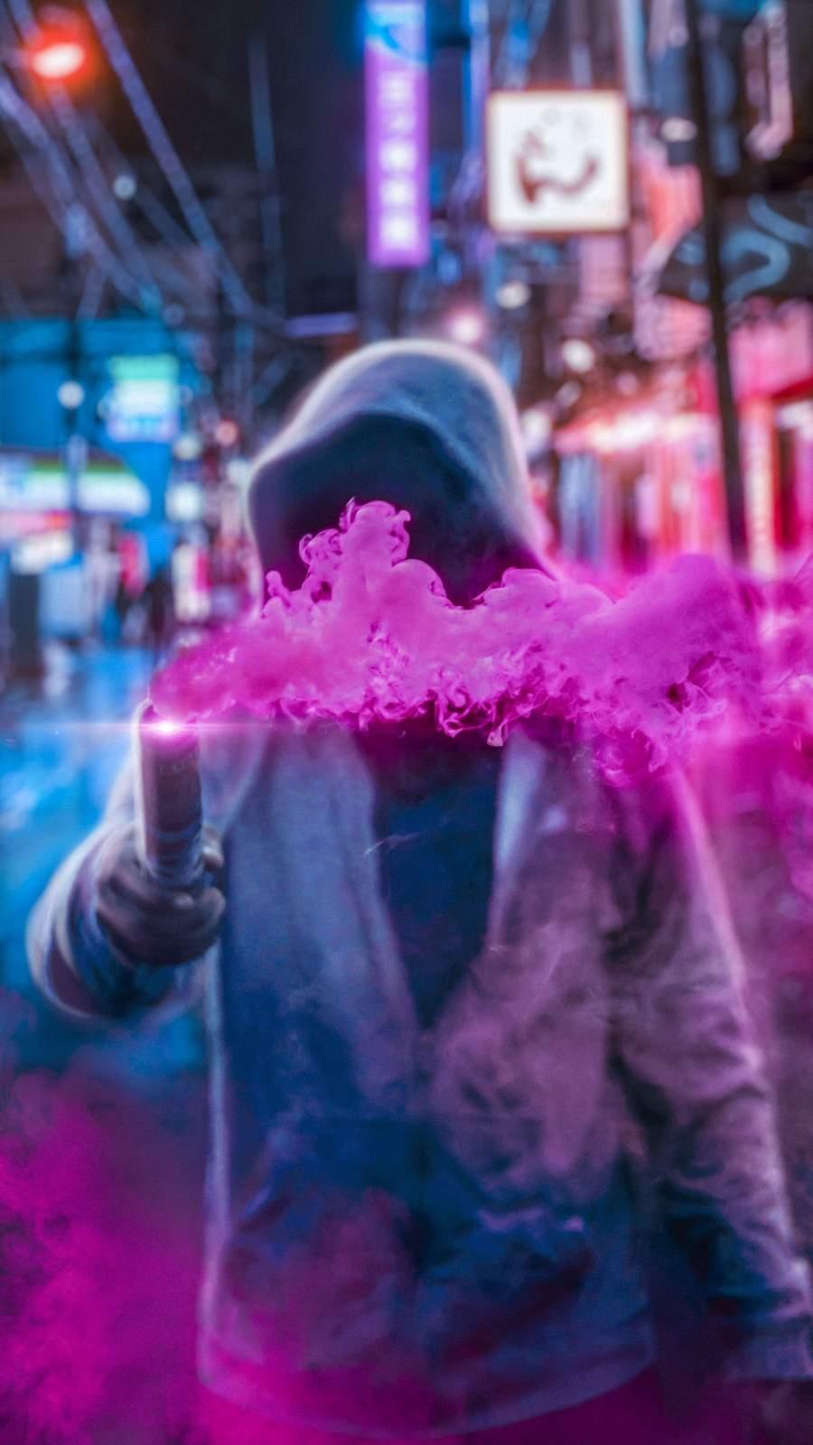 Pink Smoke iPhone Wallpaper