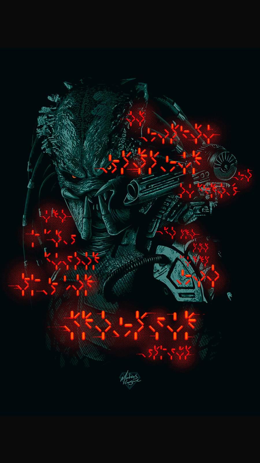 Predator Art iPhone Wallpaper