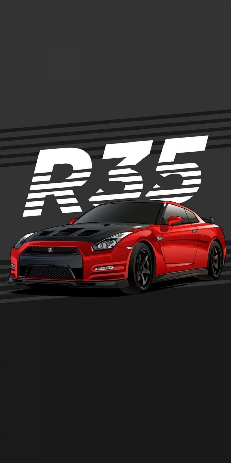 R 35 GTR iPhone Wallpaper
