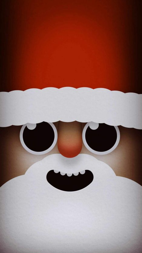 Santa Face iPhone Wallpaper