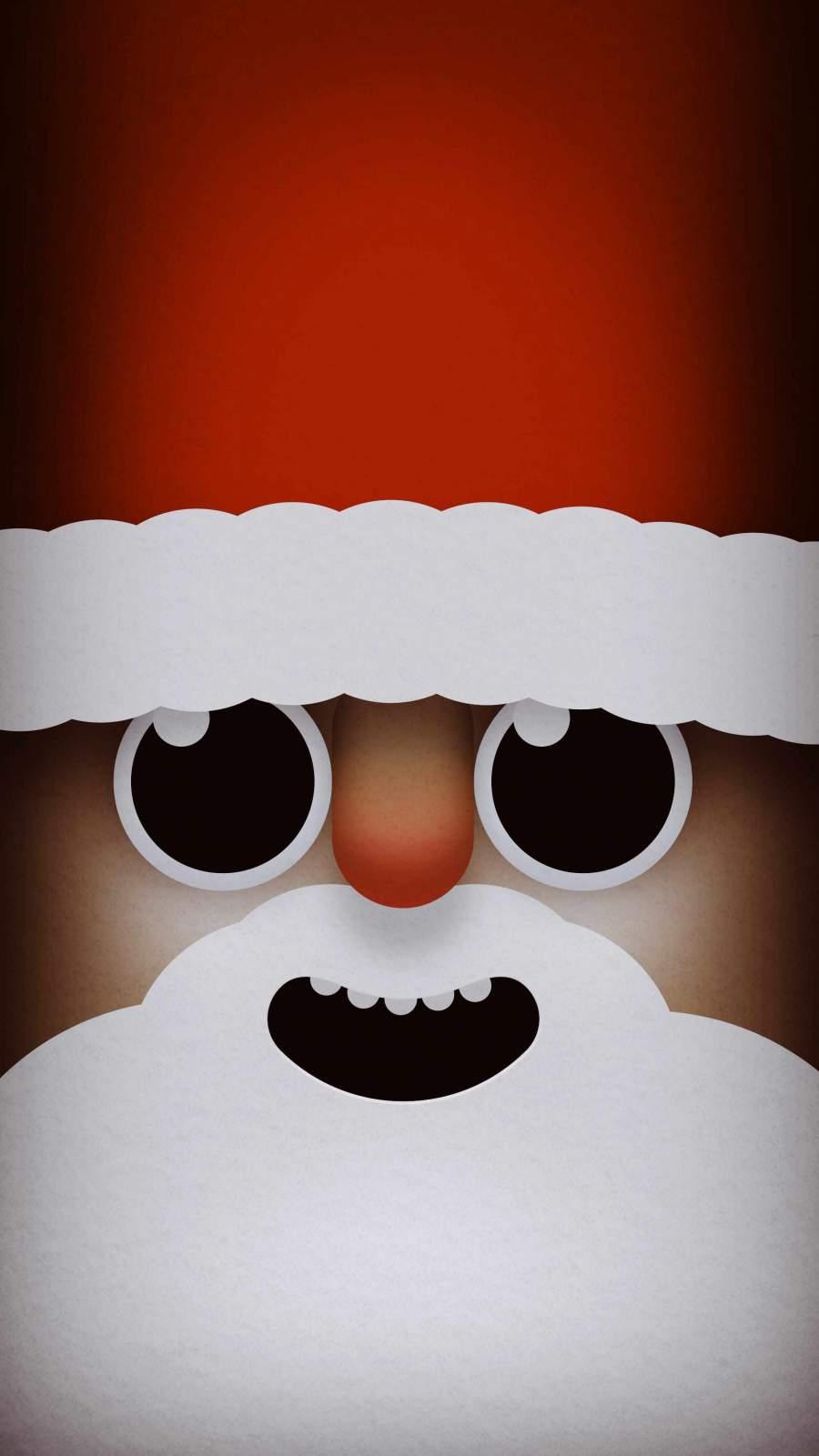 Santa Face iPhone Wallpaper