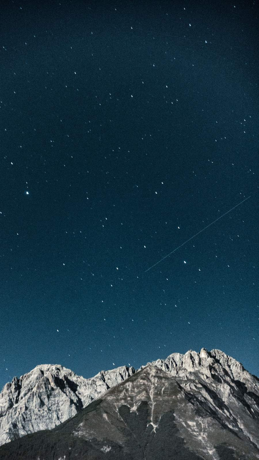 Shooting Star Over The Mountains iPhone Wallpaper