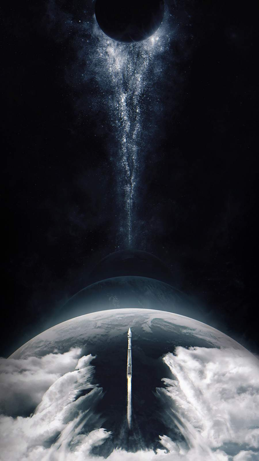 Space Rocket Mission iPhone Wallpaper