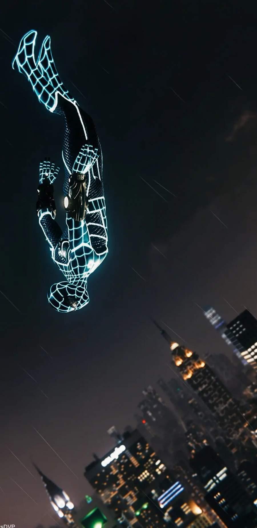 Spider Man Neon iPhone Wallpaper