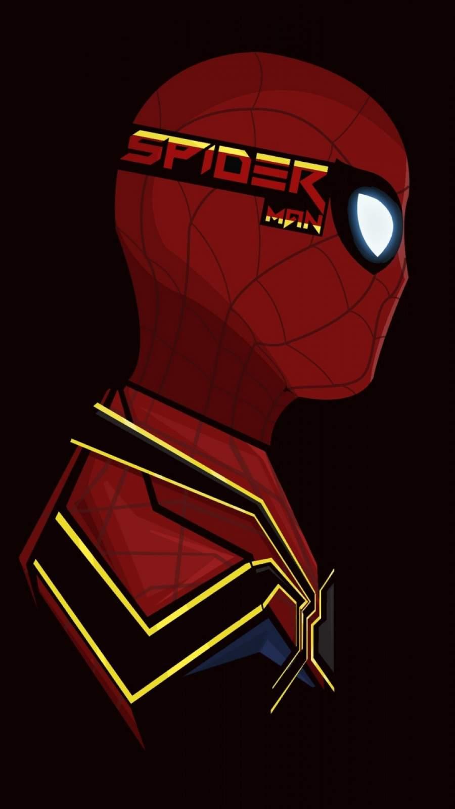 Spiderman Minimal Art iPhone Wallpaper