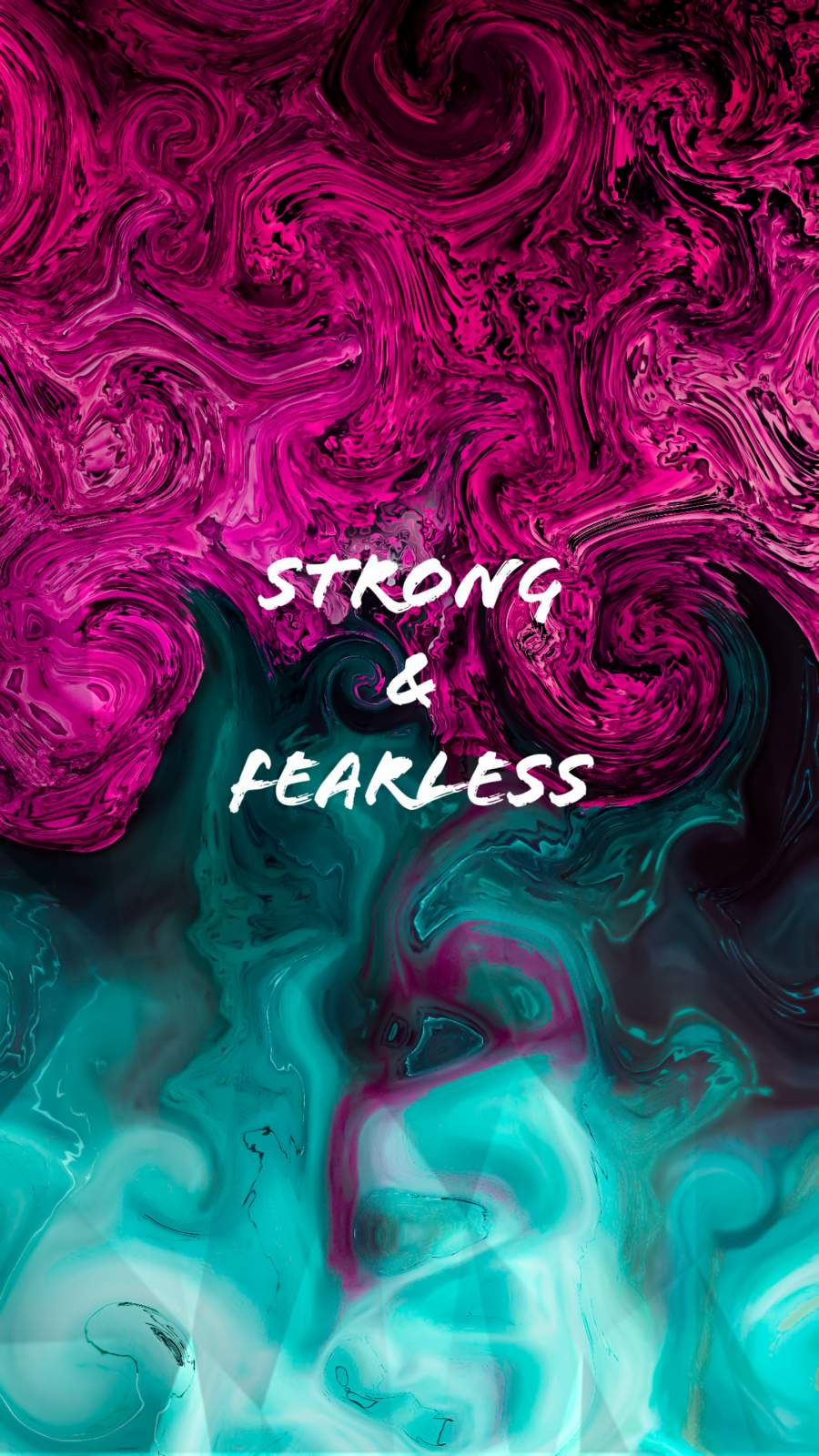 Strong and Fearless iPhone Wallpaper