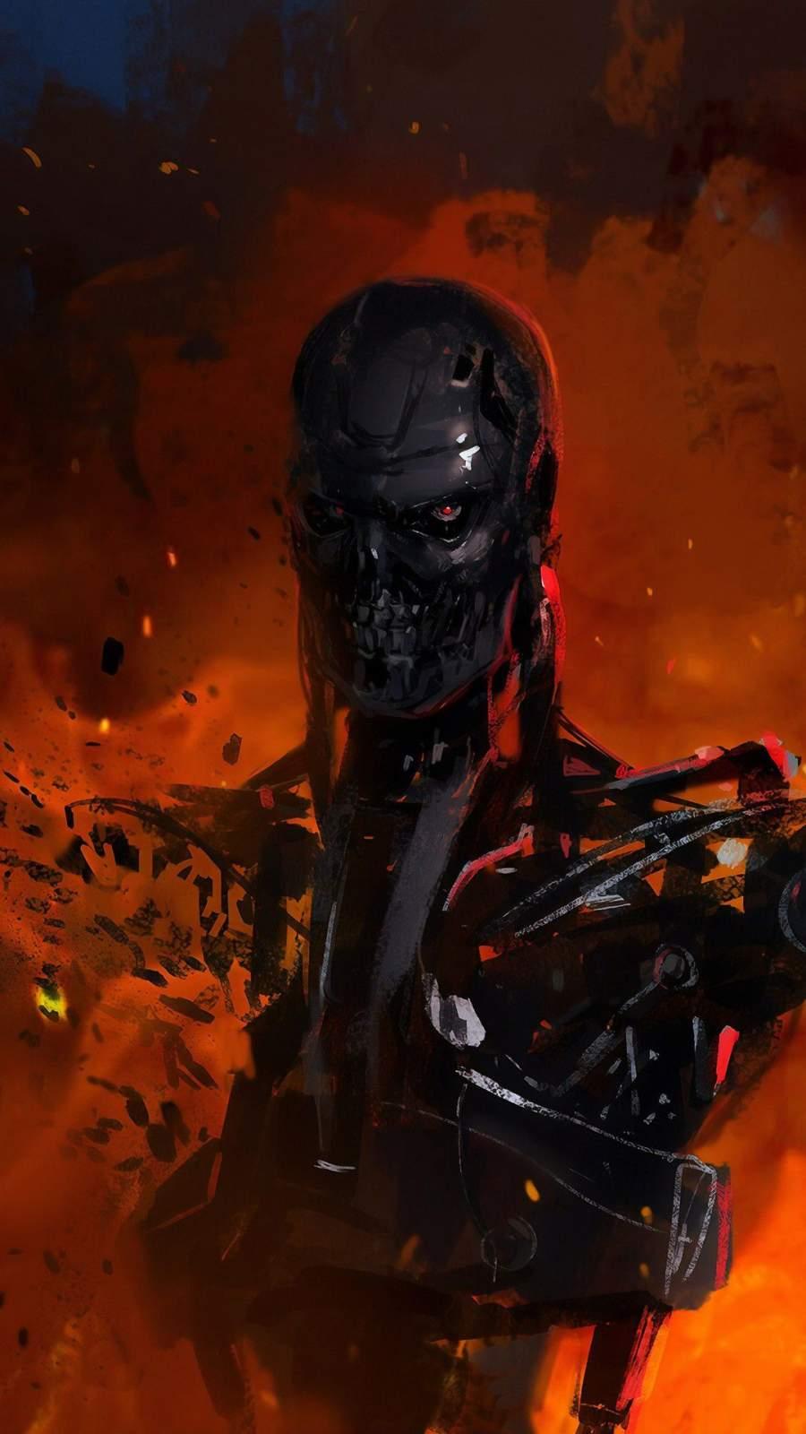 Terminator Art iPhone Wallpaper