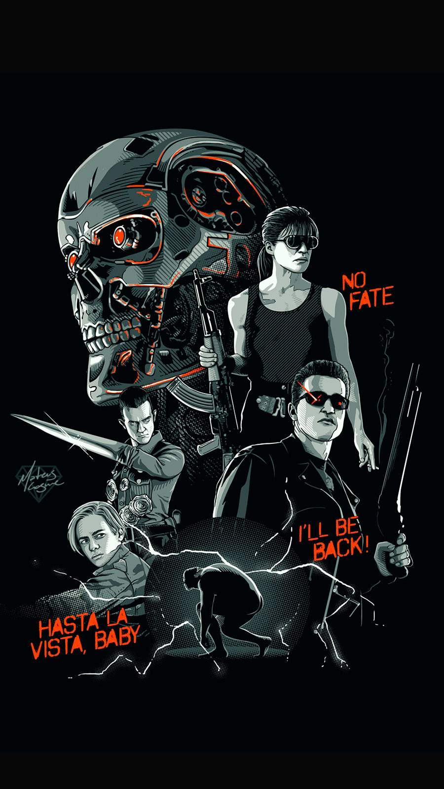 Terminator Poster iPhone Wallpaper
