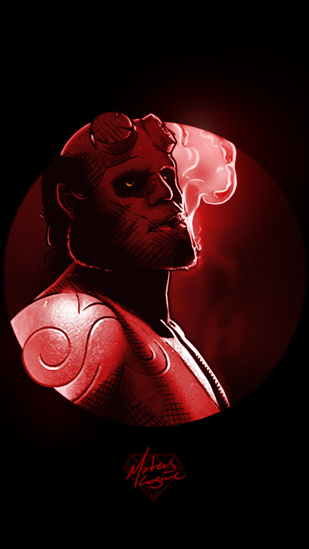 The Hellboy iPhone Wallpaper
