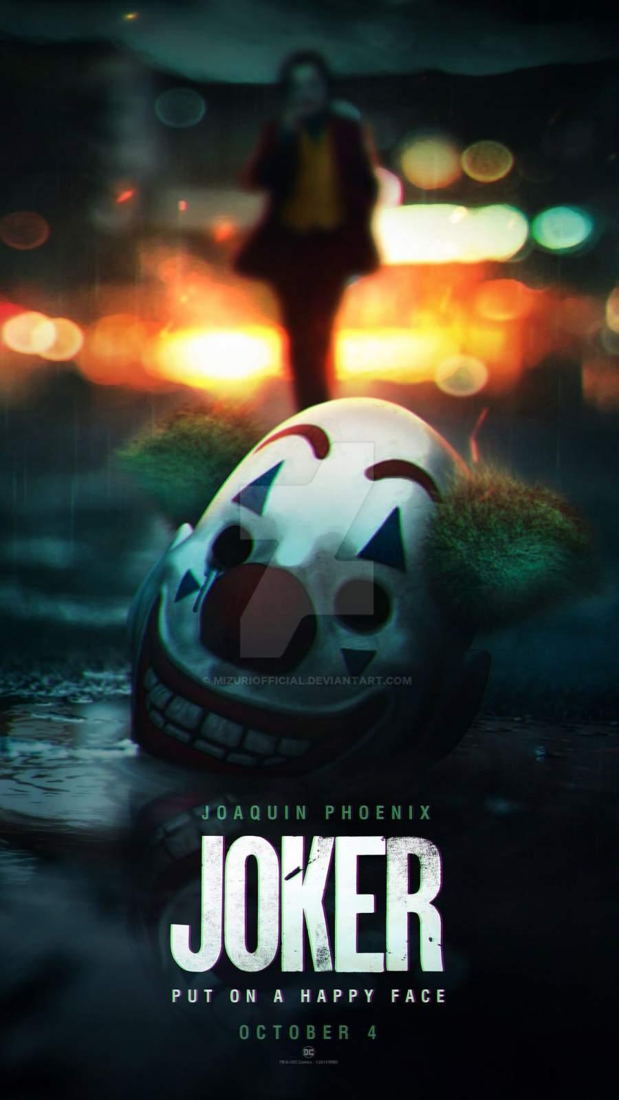 The Joker Mask iPhone Wallpaper