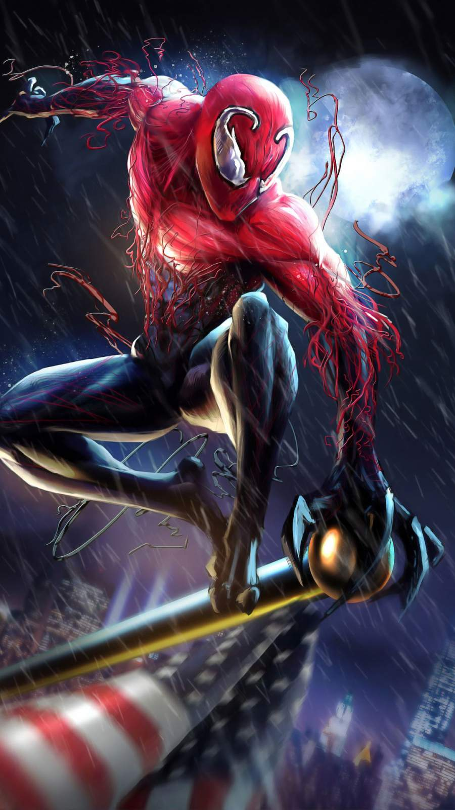Venom Spiderman iPhone Wallpaper