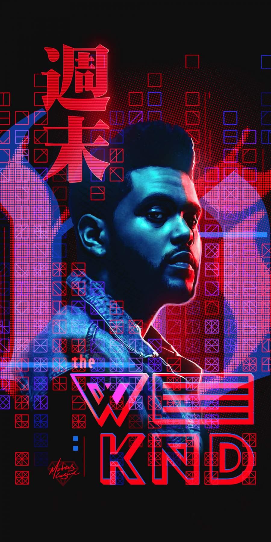 Weeknd Art iPhone Wallpaper